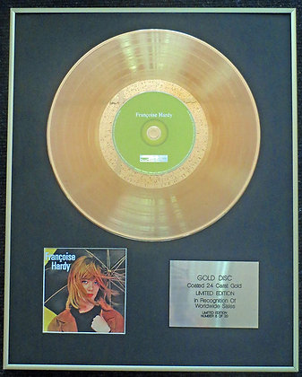 Francoise Hardy - Exclusive Limited Edition 24 Carat Gold Disc -'Francoise Hardy