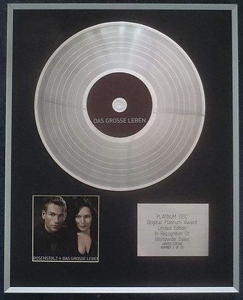Rosenstolz - Limited Edition CD Platinum LP Disc - Das Grasse Leben