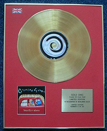 Crowded House - 24 Carat Gold Coated LP Disc - Temple of Low Men