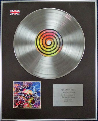 COLDPLAY - Limited Edition CD Platinum Disc - MYLO XYLOTO