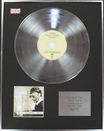 ROBIN GIBB - Limited Edition CD Platinum Disc - 50 ST CATHERINE'S DRIVE