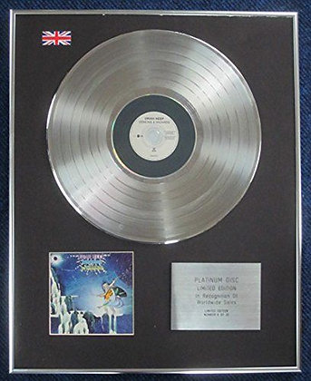 Uriah Heep - Limited Edition CD Platinum LP Disc - Demons And Wizards