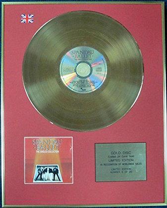 SPANDAU BALLET - Ltd Edition CD 24 Carat Coated Gold Disc - THE SINGLES…