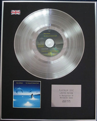 MIKE OLDFIELD - Limited Edition CD Platinum Disc -THE SONGS OF DISTANT EARTH