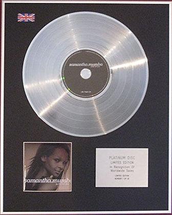 SAMANTHA MUMBA - CD Platinum Disc - GOTTA TELL YOU