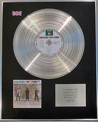 YOUNG DISCIPLES - Ltd Edition CD Platinum Disc - ROAD TO FREEDOM