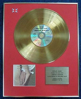 John Mellencamp - Limited Edition CD 24 Carat Gold Coated LP Disc - Human Wheels