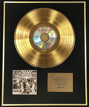 Alice Cooper - Exclusive Limited Edition 24 Carat Gold Disc - Greatest Hits