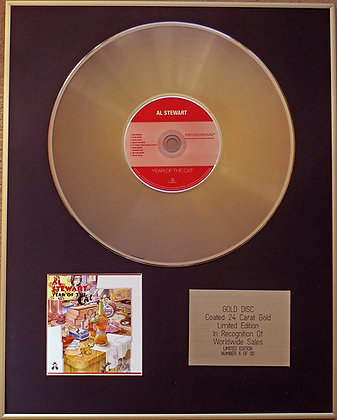 AL STEWART - Exclusive Limited Edition 24 Carat Gold Disc - YEAR OF THE CAT