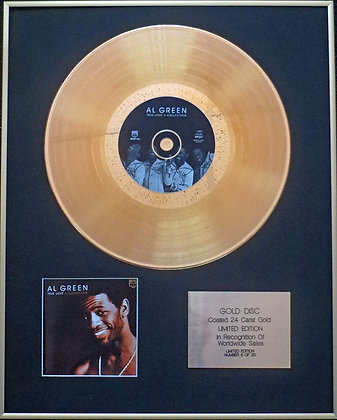 Al Green - Exclusive Limited Edition 24 Carat Gold Disc - True Love A Collection