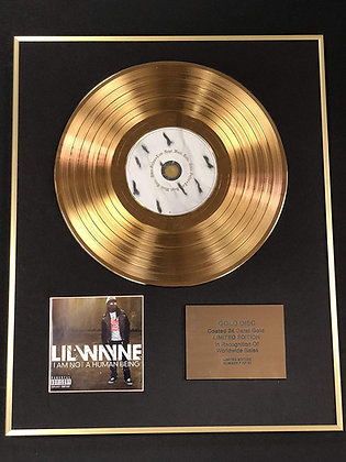 Lil Wayne - Exclusive Edition 24 Carat Gold Disc - I Am Not A Human Being