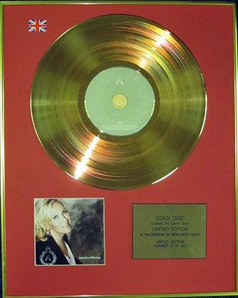 AGNETHA FALTSKOG - Ltd Edition CD 24 Carat Coated Gold Disc - A