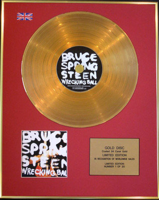 BRUCE SPRINGSTEEN - Ltd Edition CD 24 Carat Gold Disc - WRECKING BALL