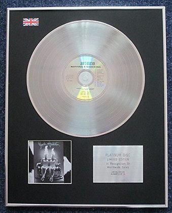 Jane's Addiction - Limited Edition CD Platinum LP Disc - Nothing's Shoc