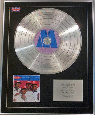 BOYZ 11 MEN  - Limited Edition CD Platinum Disc - COOLEYHIGHHARMONY
