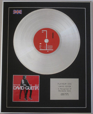 DAVID GUETTA  - LIMITED CD Platinum Disc - NOTHING BUT THE BEAT