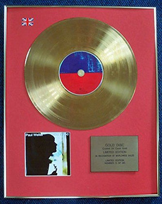 Paul Weller - Limited Edition CD 24 Carat Gold Coated LP Disc - Wild Wood