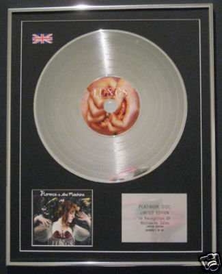 FLORENCE & THE MACHINE  Ltd Edt CD Platinum Disc- LUNGS