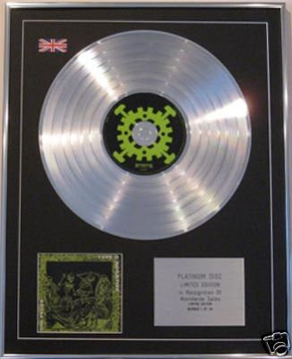 TYPE O NEGATIVE-Ltd Edt CD Platinum Disc-THE ORIGIN OF