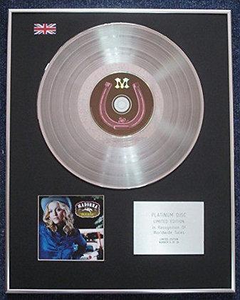 Madonna - Limited Edition CD Platinum LP Disc - Music
