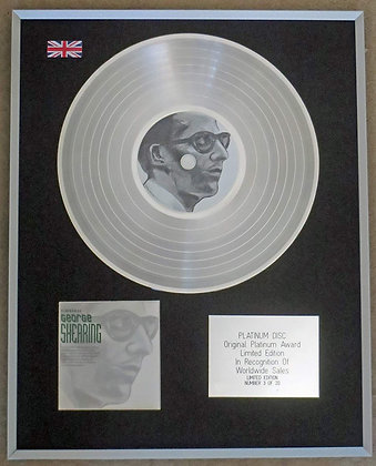 GEORGE SHEARING – Limited Edition CD Platinum Disc – TIMELESS