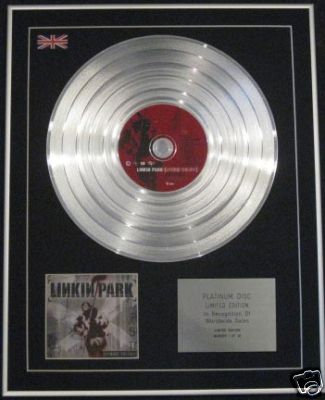 LINKIN PARK-Ltd Edition CD Platinum Disc-HYBRID THEORY