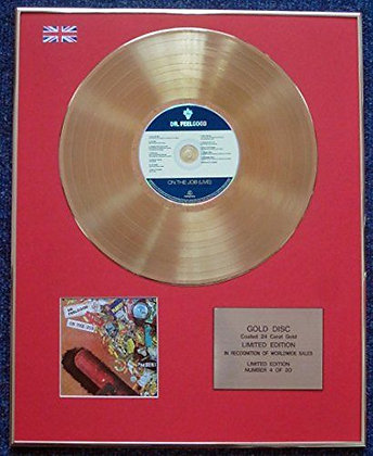 Dr. Feelgood - Limited Edition CD 24 Carat Gold Coated LP Disc - On the Job