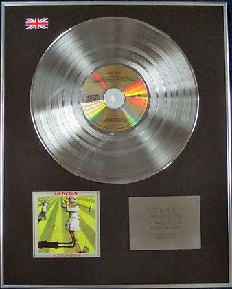 GENESIS - Limited Edition CD Platinum Disc - NURSERY CRYME