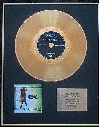 Ash - Exclusive Limited Edition 24 Carat Gold Disc - Free All Angels