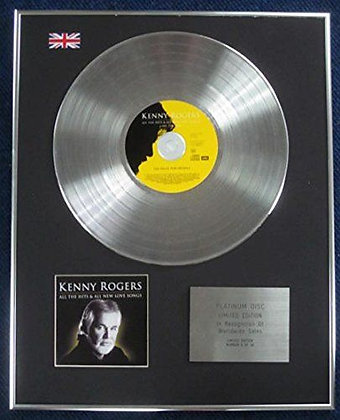 Kenny Rogers - Limited Edition CD Platinum LP Disc - All the Hits?
