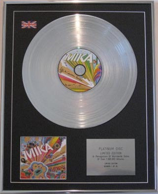 MIKA - CD Platinum Disc- LIFE IN CARTOON MOTION