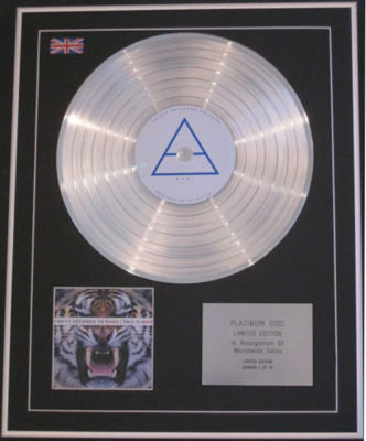 THIRTY SECONDS TO MARS - CD Platinum Disc - THIS IS WAR