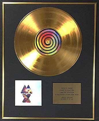 Coldplay - Exclusive Limited Edition 24 Carat Gold Disc - Mylo Xyloto
