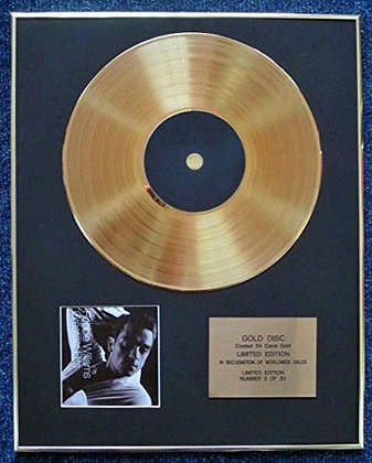 Robbie Williams - LTD Edition CD 24 Carat Gold Coated LP Disc - Greatest Hits