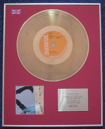 DAVID BOWIE - Limited Edition CD 24 Carat Gold Coated LP Disc - LODGER