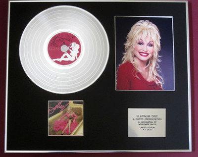 DOLLY PARTON - Platinum Disc + Photo - DOLLY