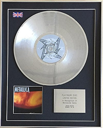 METALLICA - Limited Edition CD Platinum Disc - RELOAD