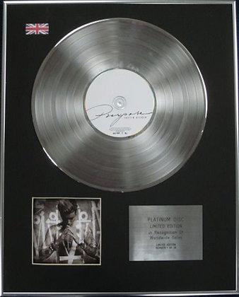 JUSTIN BIEBER - Limited Edition CD Platinum Disc - PURPOSE