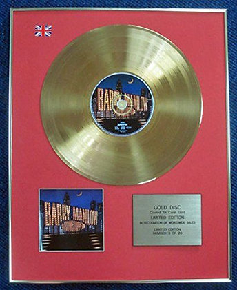 Barry Manilow - Limited Edition CD 24 Carat Gold Coated LP Disc - Shows