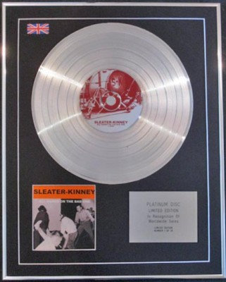 SLEATER-KINNEY CD Platinum Disc-ALL HANDS ON THE BAD..