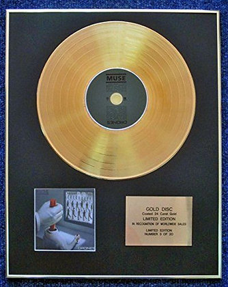 Muse - Limited Edition CD 24 Carat Gold Coated LP Disc - Drones