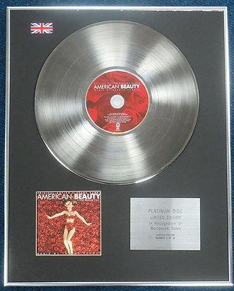 American Beauty - Limited Edition CD Platinum LP Disc - Original Film Soundtrack