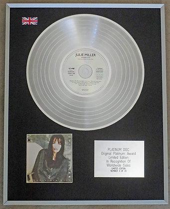 JULIE MILLER - Limited Edition CD Platinum Disc - INVISIBLE GIRL