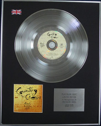 COUNTING CROWS - Ltd Edtn CD Platinum Disc - AUGUST AND EVERYTHING AFTER