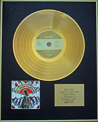DR JOHN - Exclusive Limited Edition 24 Carat Gold Disc - BABYLON