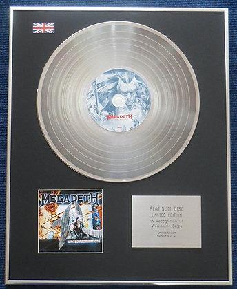 Megadeth - Limited Edition CD Platinum LP Disc - United Abominations