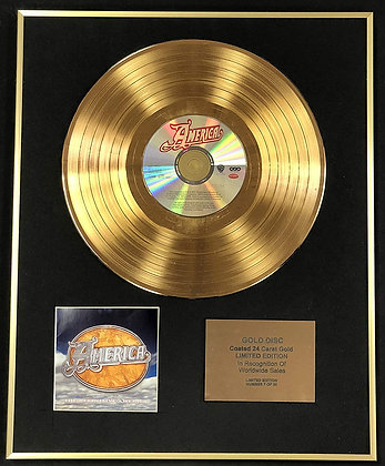 America - Exclusive Limited Edition 24 Carat Gold Disc - The Definitive America