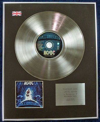 AC/DC - Limited Edition CD Platinum Disc - BALLBREAKER