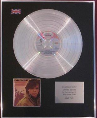 JOHN COUGAR - CD Platinum Disc - AMERICAN FOOL