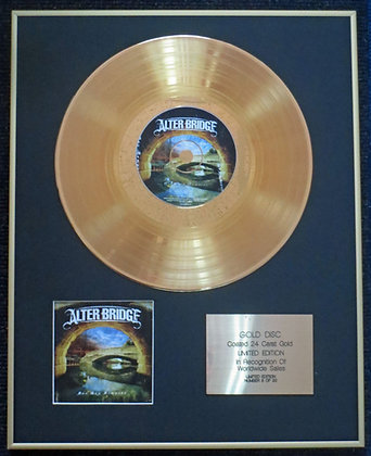 Alter Bridge - Exclusive Limited Edition 24 Carat Gold Disc - One Day Remains